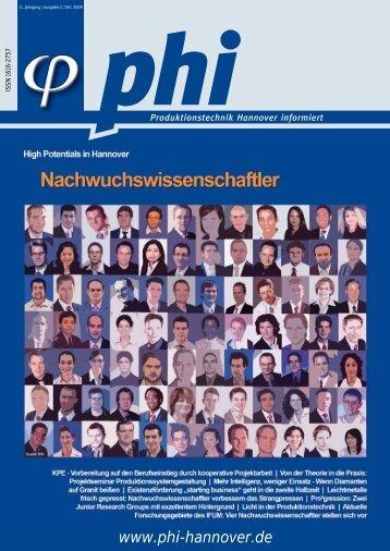 phi Ausgabe 2/2009 - Produktionstechnik Hannover informiert