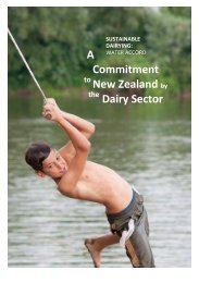 A Commitment New Zealand by Dairy Sector - DairyNZ