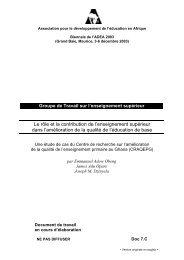 Le rôle et la contribution de l'enseignement supérieur dans l ... - ADEA