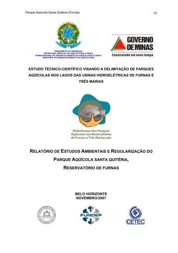 reservatório de furnas - Ecologia e Gestão Ambiental - UFMG
