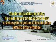 The Benefits of Harmonising Airworthiness Certification Criteria to ...