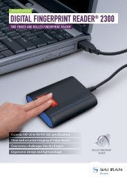 DIGITAL FINGERPRINT READER® 2300 - Morpho