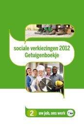 sociale verkiezingen 2012 Getuigenboekje - ACV Zuid-West ...