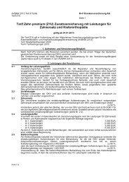 PDF (174 KB) herunterladen - Zahnzusatzversicherung ME