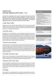 SCHOTTLAND Edinburgh, Highlands und Isle of Skye