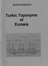 Turkic Toponyms of Eurasia - Home