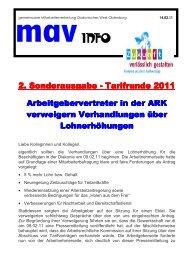 Tarifrunde 2011 Sonderinfo 2 - Diakonie im Oldenburger Land