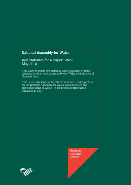 Key Statistics for Newport West - National Assembly for Wales