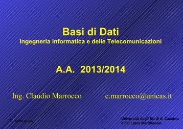 Introduzione al corso - Docente.unicas.it - Università degli Studi di ...