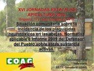 JORNADAS ESTATALES APICULTURA 2010 - Coag