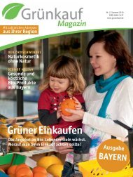 Magazin - Grünkauf