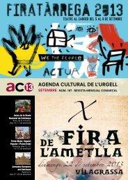 AGENDA CULTURAL DE L'URGELL - Ajuntament de Tàrrega