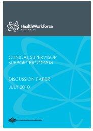 CSSP Discussion Paper - Health Workforce Australia