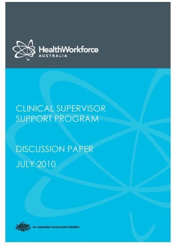 CSSP Discussion Paper - Health Workforce Australia