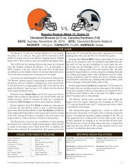 (3-7) vs - Cleveland Browns