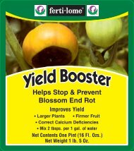 Label 10607 Yield Booster Approved 04-20-12 - Fertilome