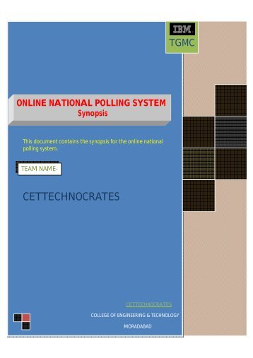 National Polling System. - IFTM University