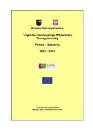 Wspólne Uszczegółowienie - Polen 2007-2013