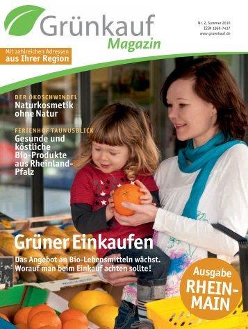 aus Ihrer Region RHEIN- MAIN Ausgabe - Grünkauf