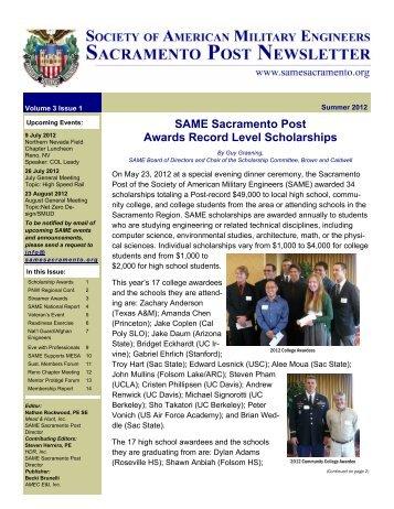 Summer 2012 Newsletter - SAME Sacramento