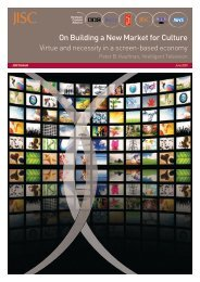 On Building a New Market for Culture - Intelligent Television