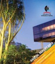 UKZN Annual Report 2009 - University of KwaZulu-Natal