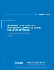 Managing Cash Flow in a Professional Practice During ... - Withum