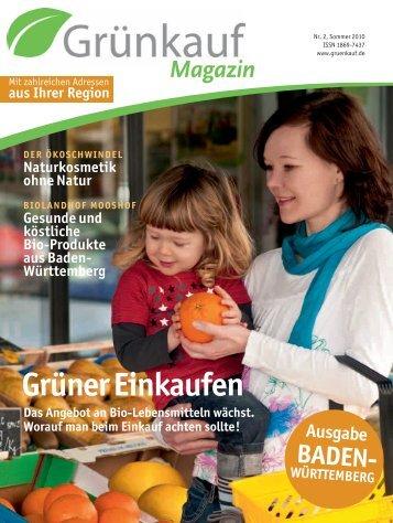 aus Ihrer Region BADEN- WÜRTTEMBERG Ausgabe - Grünkauf