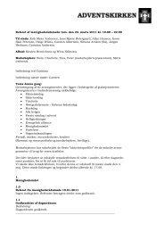 Referat af menighedsrådsmøde tors. den 24. marts 2011 kl. 19.00 ...