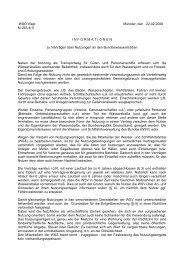 Informationen zu Verträgen über Nutzungen an den ...