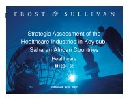 Saharan African Countries - Growth Consulting - Frost & Sullivan