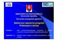 Opatrenie 1.4 SOP PS - Slovenská inovačná a energetická agentúra