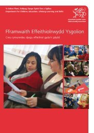 Fframwaith Effeithiolrwydd Ysgolion - Arsyllfa Dysgu a Sgiliau Cymru