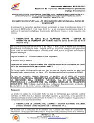 Documento respuestas observaciones pliego - Metrocali