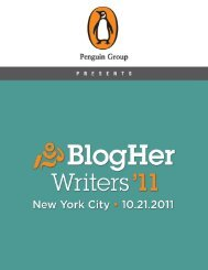 BlogHer Writers '11 Conference Guide