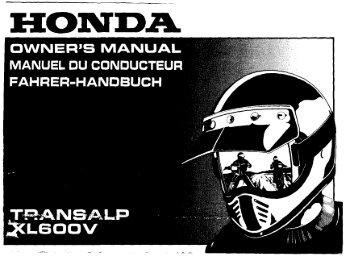 TRANSALP XL600V - Honda