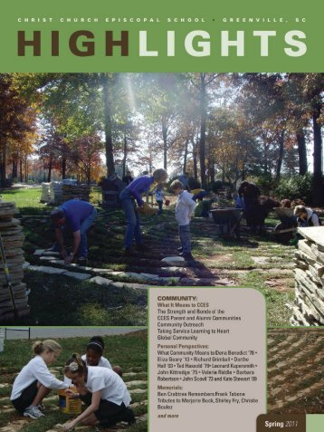 Spring 2011 - Front Page - Christ Church Episcopal School