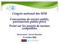 Concessions de services publics, partenariats public-privé
