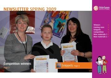 NEWSLETTER SPRING 2009 - Stòrlann Nàiseanta na Gàidhlig