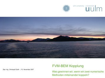 FVM-BEM Kopplung - Csc.cs.colorado.edu
