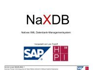 Natives XML Datenbank-Managementsystem - Business Process ...