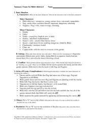 Summary Frame for Rikki-tikki-tavi Name 1. Basic Situation Main ...