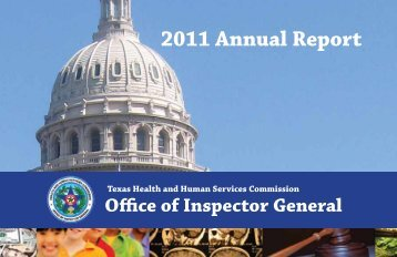 download the report - Office of Inspector General - Texas Health and ...