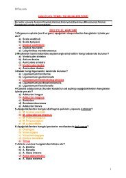 DrTus.com 1 2002 EYLÜL TEMEL TIP BĐLĐMLERĐ TESTĐ 2002 ...