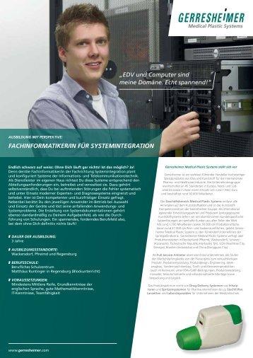 fachinformatiker/in für systemintegration - Gerresheimer