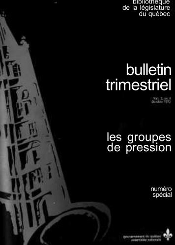 bulletin trimestriel - Bibliothèque