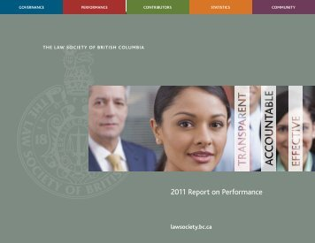 2011 annual report - The Law Society of British Columbia