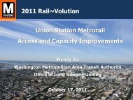 Union Station Metrorail Access and Capacity ... - Rail~Volution