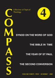synod on the word of god - Compass - a Review of Topical Theology