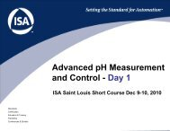 ISA Saint Louis Advanced pH Short Course